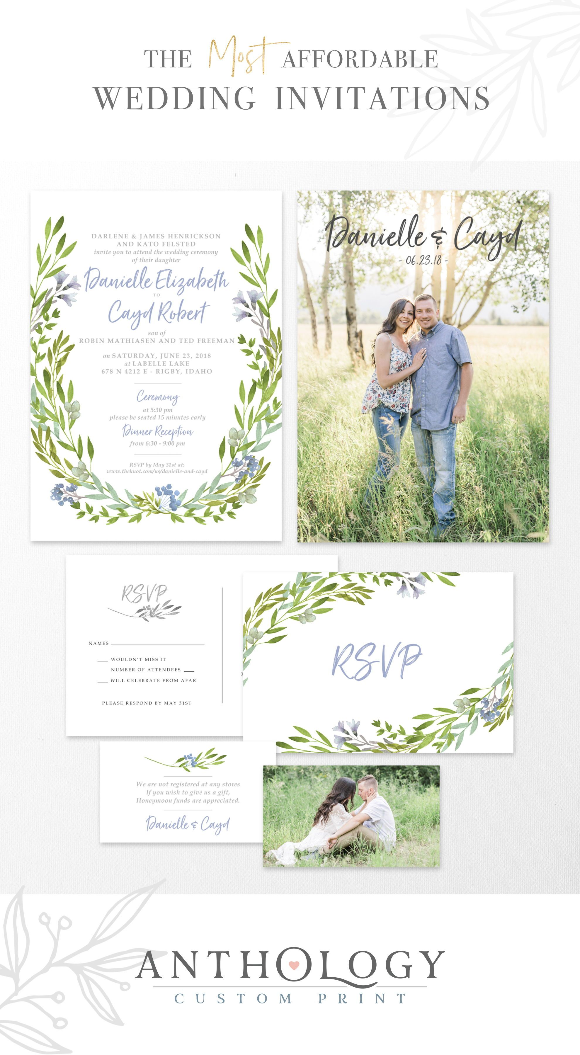 Watercolor Fl Wedding Invites