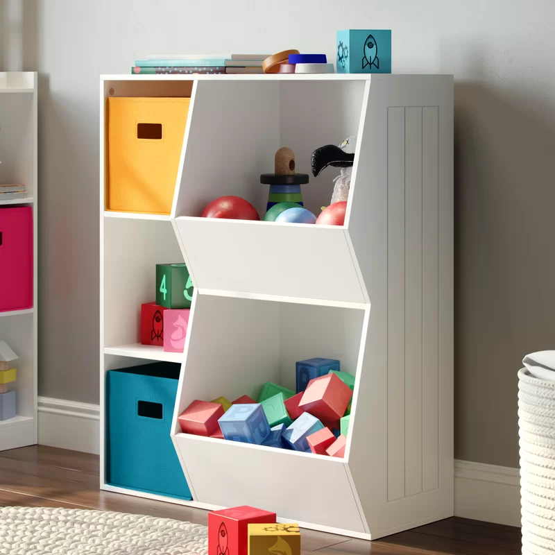 Fussell Riverridge 3 Cubby 2 Veggie Bin Toy Organizer Kids Flooring Kids Storage Kids Furniture
