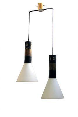 vintage ceiling lamps 1950