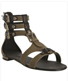 5422cffbe3a Giuseppe Zanotti for Balmain Canvas Gladiator Sandals in Olive