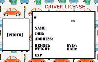 Personalized Credit Cards For Kids Transportation Theme Preschool