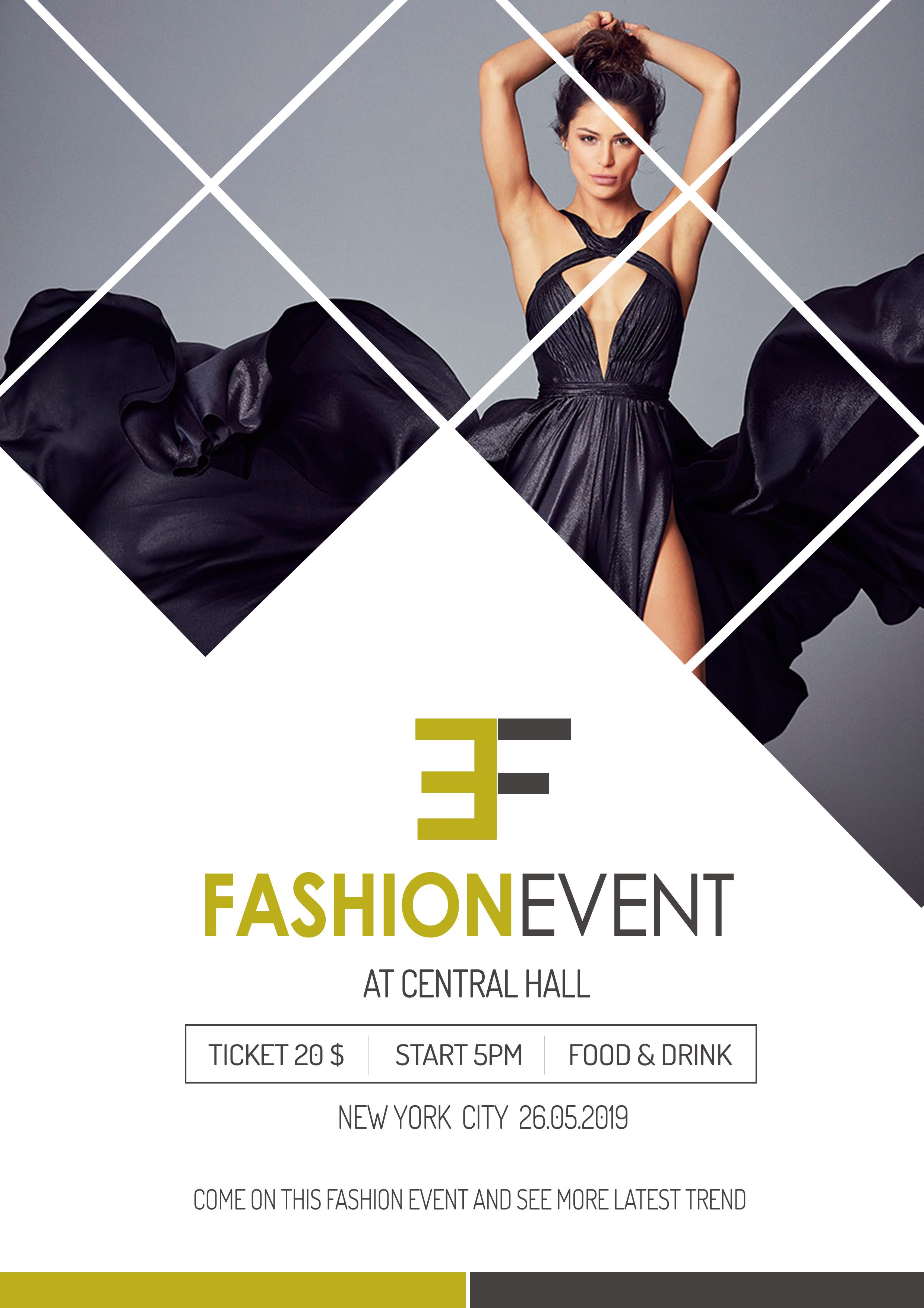 fashion event poster design in photoshop | Event poster ...