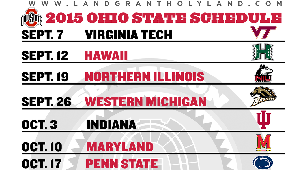 Get a downloadable/printable 2015 Ohio State football
