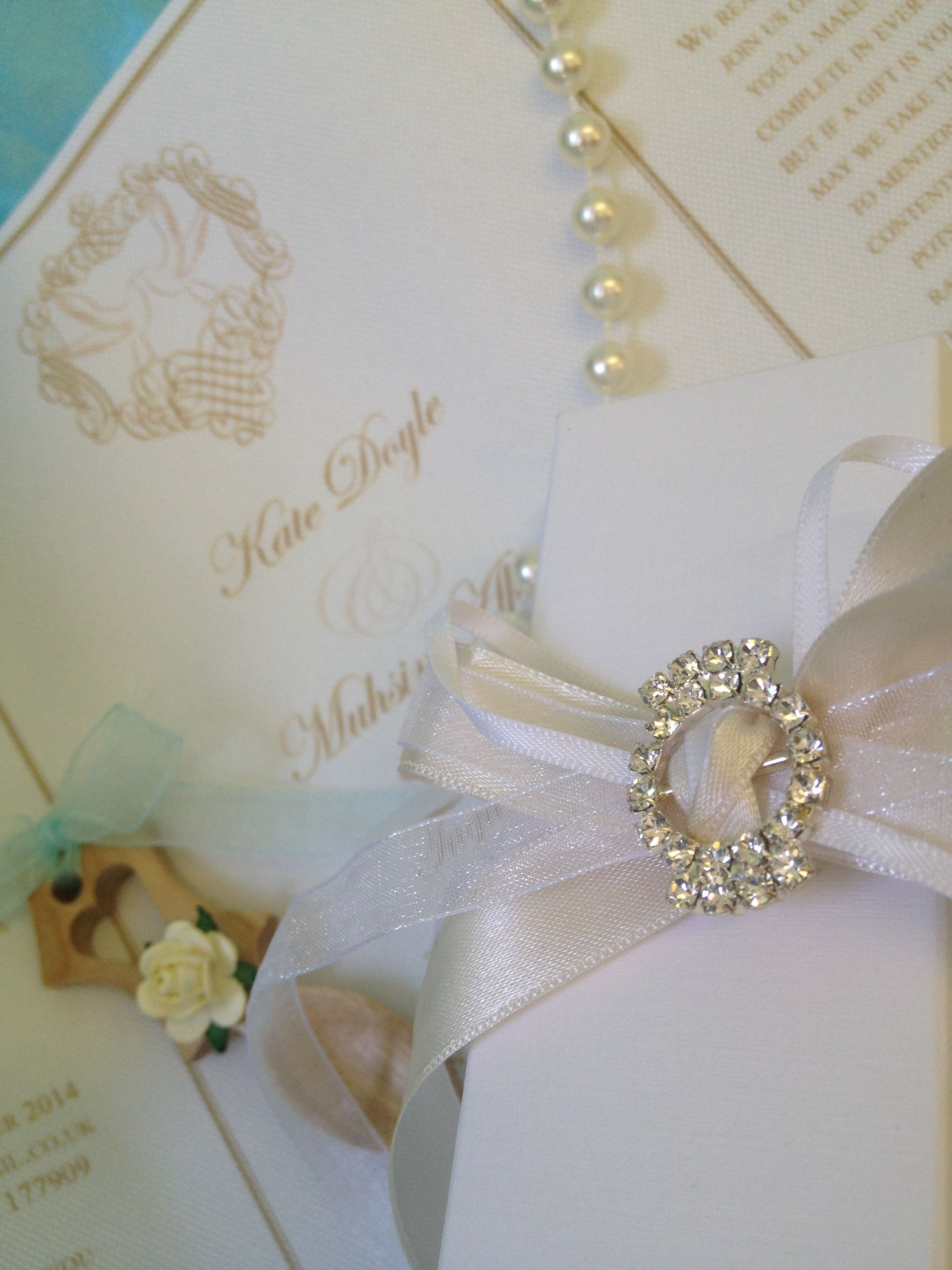 Scroll luxury vintage wedding invitation handmade by Perfect Day ...