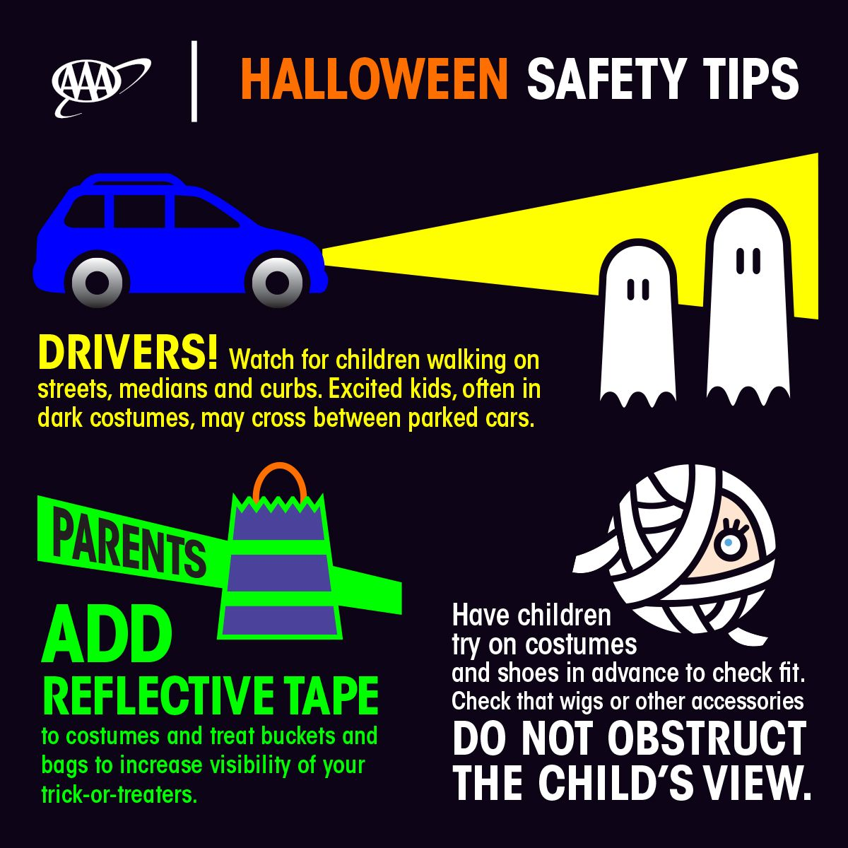 Check out these Halloween safety tips! We love Halloween