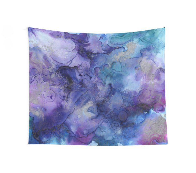 Abstract Watercolor And Ink Tapestry Tapestry Watercolor Ink