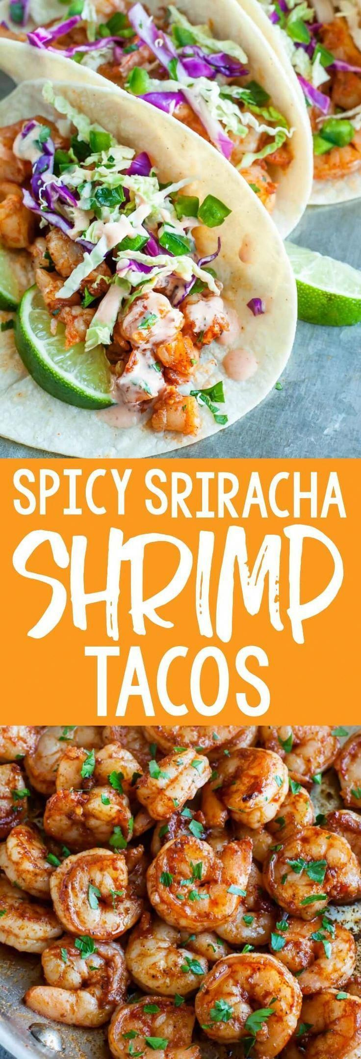 Photo of Spicy Sriracha Shrimp Tacos with Cilantro Lime Slaw – Peas And Crayons