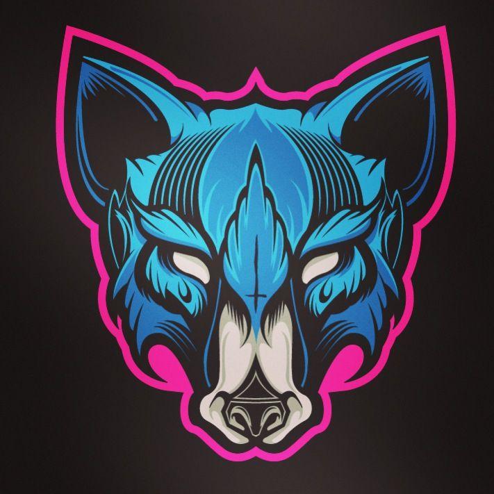 Hydro74 wolf sticker 2