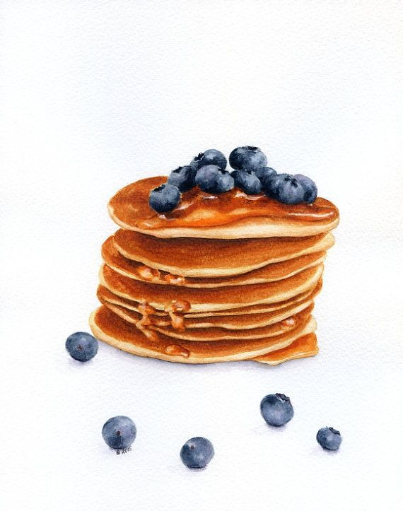 Forestartstudio American Blueberry Pancakes With Images