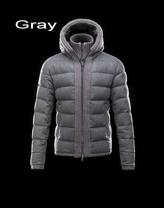 Moncler Canut Men Featureing Hood With Woven Edge Collar Jacket Gray For  Sale 76e85d626a1