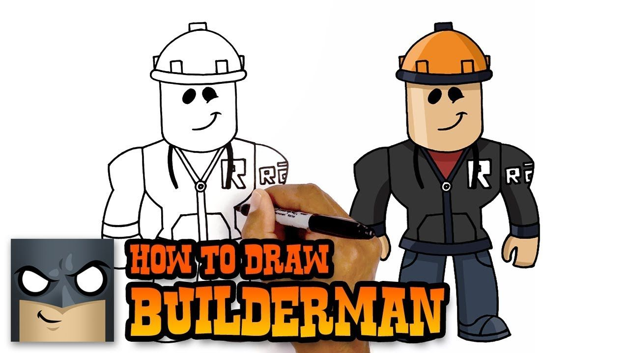How To Draw Builderman Roblox Drawing Videos Step By Step