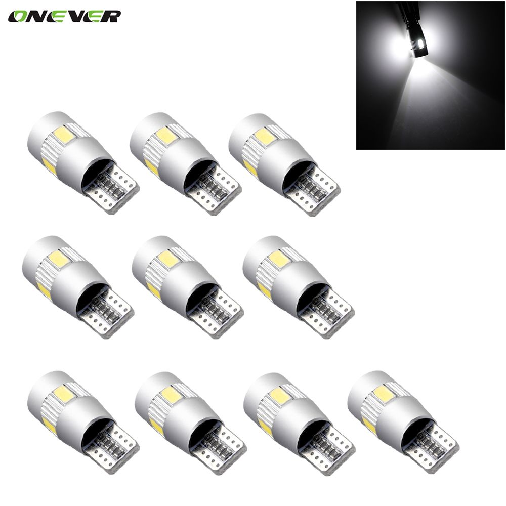 T10 501 194 W5W CANBUS SIDELIGHTS PARKING WHITE LED 5-SMD bulbs D