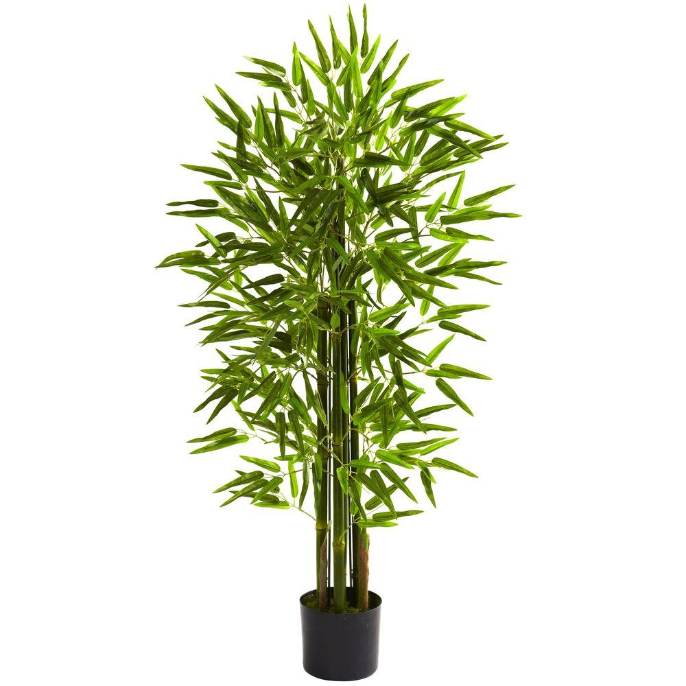 Nearly Natural 4 Ft Uv Resistant Indoor Outdoor Bamboo Tree 5384