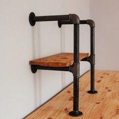 kit montant 20cm biblioth que tag re en tuyaux de. Black Bedroom Furniture Sets. Home Design Ideas