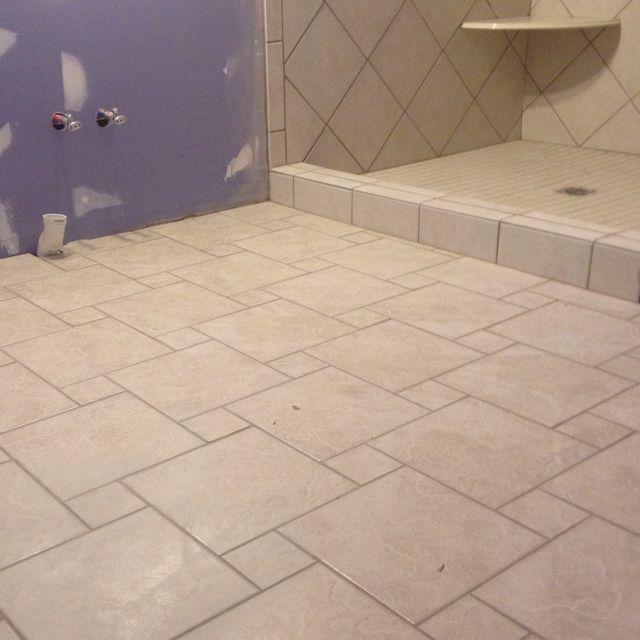 Pinwheel Design Floor Tile Bathroom Remodel Pinterest