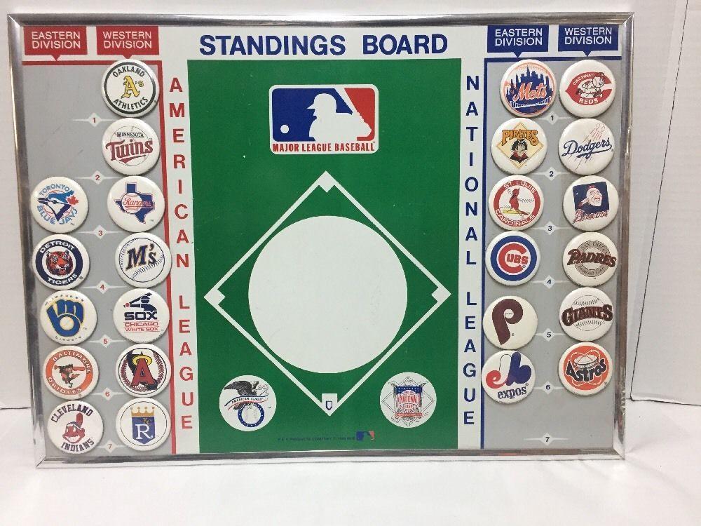 Vintage Mlb Baseball Magnetic Standings Board 1989 23 Fridge Magnets Pkproductscompany Mlb Football Trading Cards Baseball Mlb Baseball