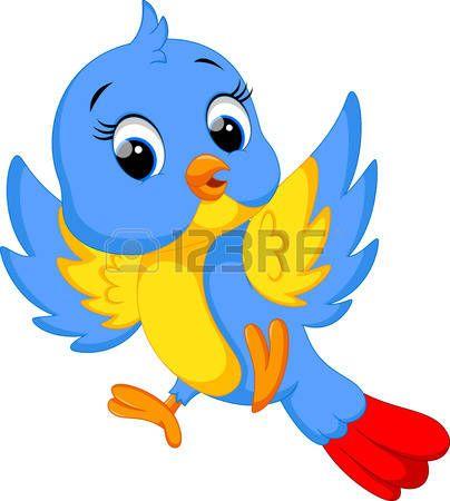pajaros  Caricatura de aves lindo Vectores  49675ab7de1