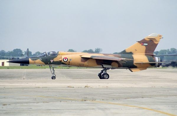 9d86f75b52fb88 Royal Jordanian Air Force Dassault Mirage F-1. Note the Jordanian desert  camoflague comes very close to that existing in Iran.