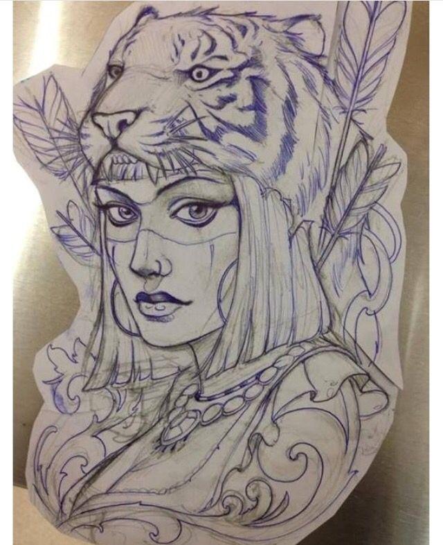 80e21fa1862d8 Pin by Jorge Rivera on bitongo | Tattoo drawings, Tattoos, Headdress tattoo