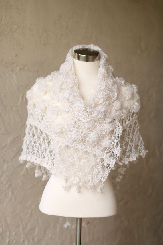 d54e4912c1 Wedding Cape,Crochet Shawl,Bridal Capelet,Lace Shawl,Ivory Bridal ...