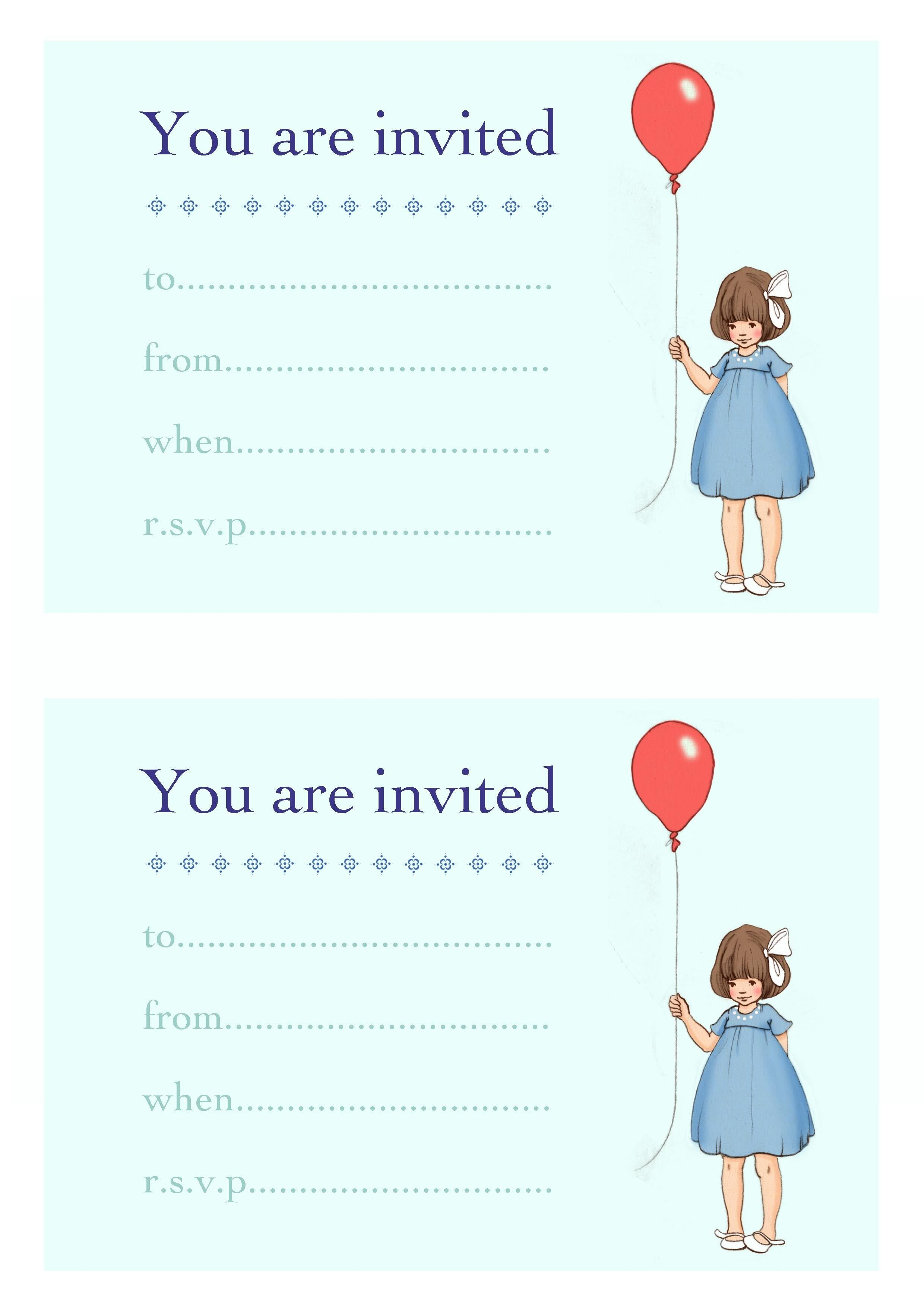 You Can Download These Kid Party Invites For Free Love Belle And Boo