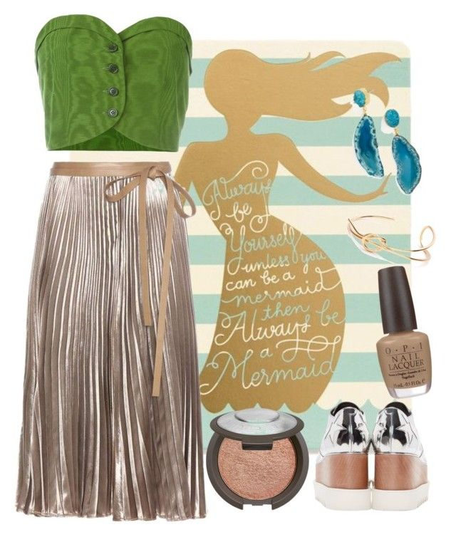 """be a mermaid"" by spiceandsugar ❤ liked on Polyvore featuring Spartina 449, Romeo Gigli, Valentino, STELLA McCARTNEY, Becca, OPI and BaubleBar"