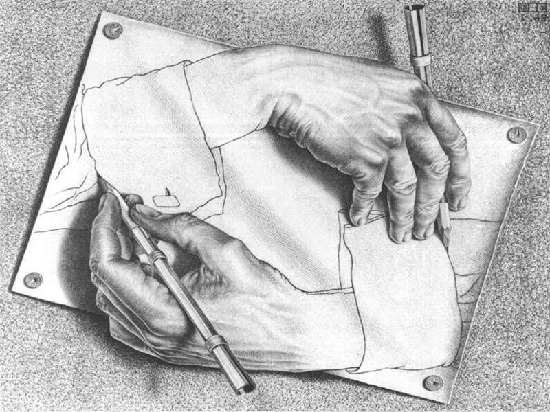 hands drawing infinity Sök på Google Optical illusions