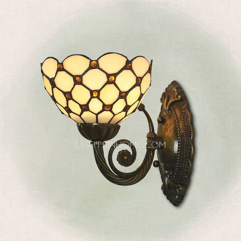 Charmant The Cheap Wall Sconces Are Made Of Stained Glass Shade, E26/E27 Lamp Holder