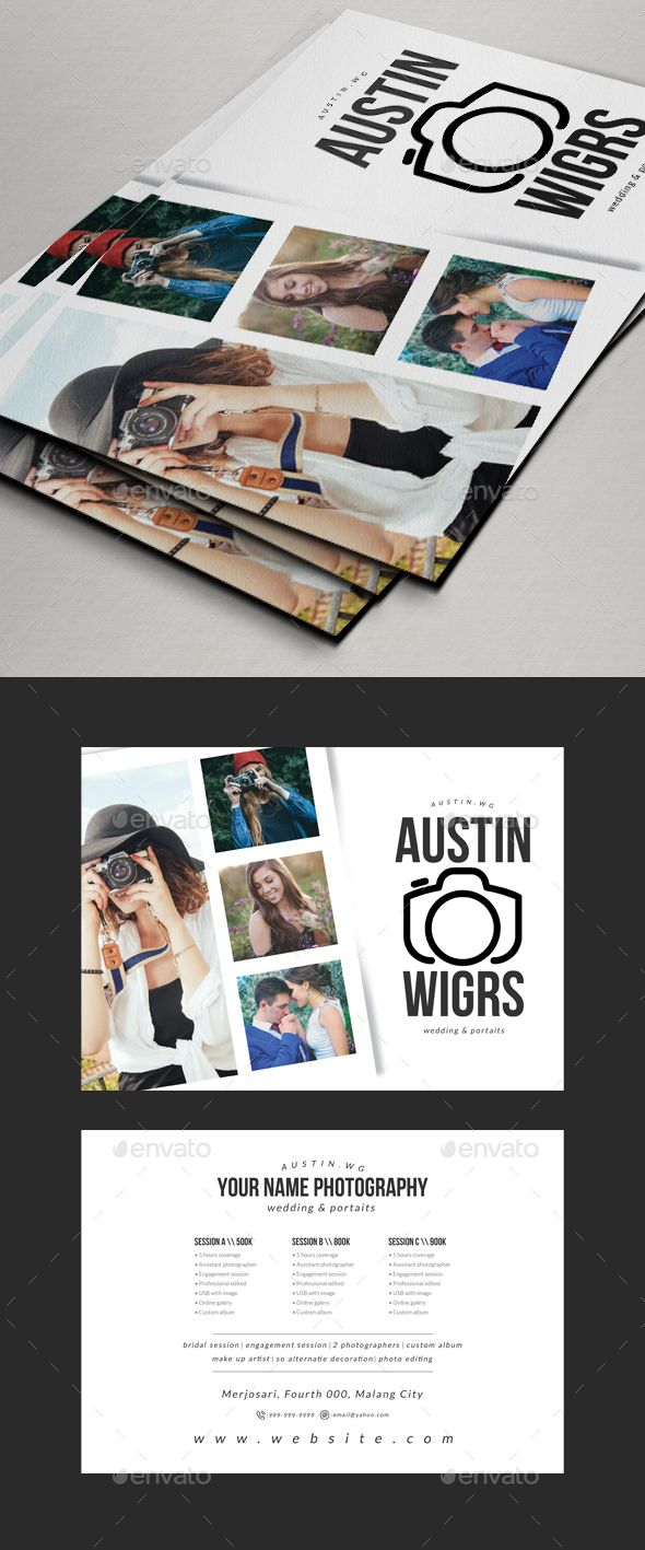 Photography Flyer / Pricing Sheet V2 | Photography flyer, Template ...