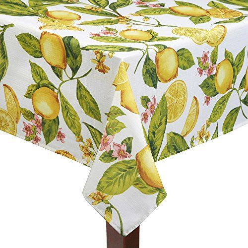 Lemon Zest Print 60 X 84 Rectangle/Oblong Summer Fabric Tablecloth Elrene  Http://www.amazon.com/dp/B00TJDA38I/refu003dcm_sw_r_pi_dp_jykfvb1YGW1V6