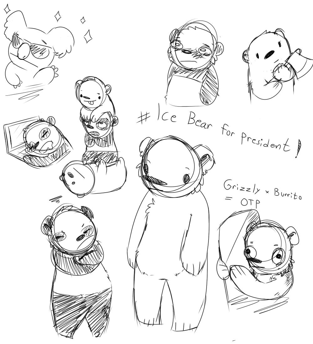 we bare bears kinda grizzly grizz panda ice bear 1 DBZ Battle of Z Characters we bare bears kinda grizzly grizz panda