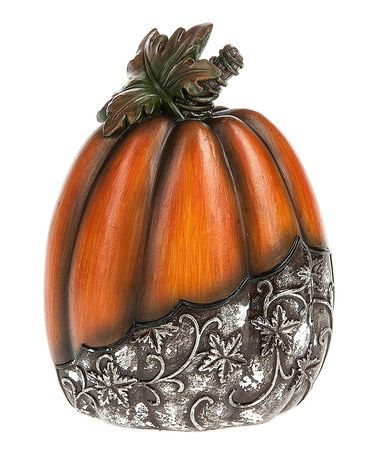 GANZ Medium Engraved Pumpkin Statue Seasonal decor and Fall decor - halloween statues