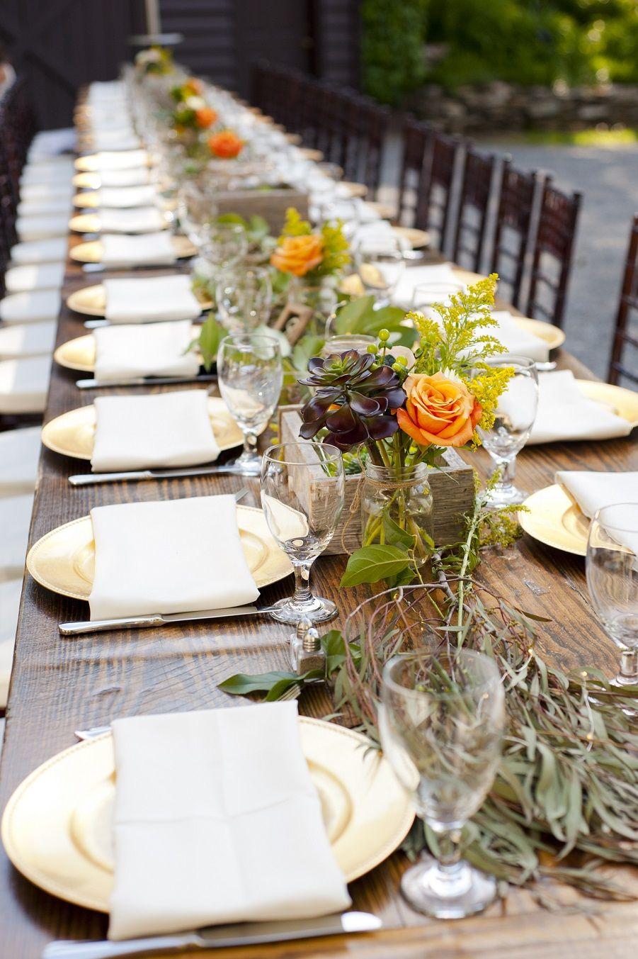 long table setup wedding reception%0A Elegant and bright  tablesetting for a  wedding  reception  Table  SettingsWedding ReceptionReceptions