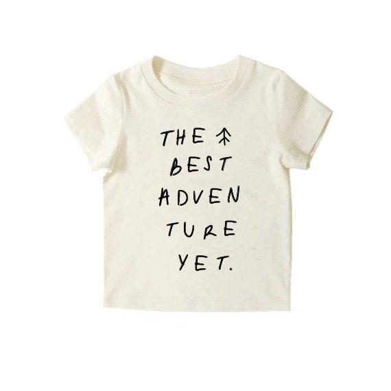 Adventure Tshirt First Birthday Shirt Kids Clothing Modern Natural H
