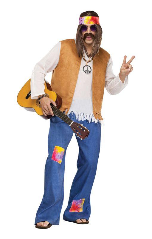 Hippie Mens Costume Hippie Costume Halloween Hippie Outfits Hippie Costume