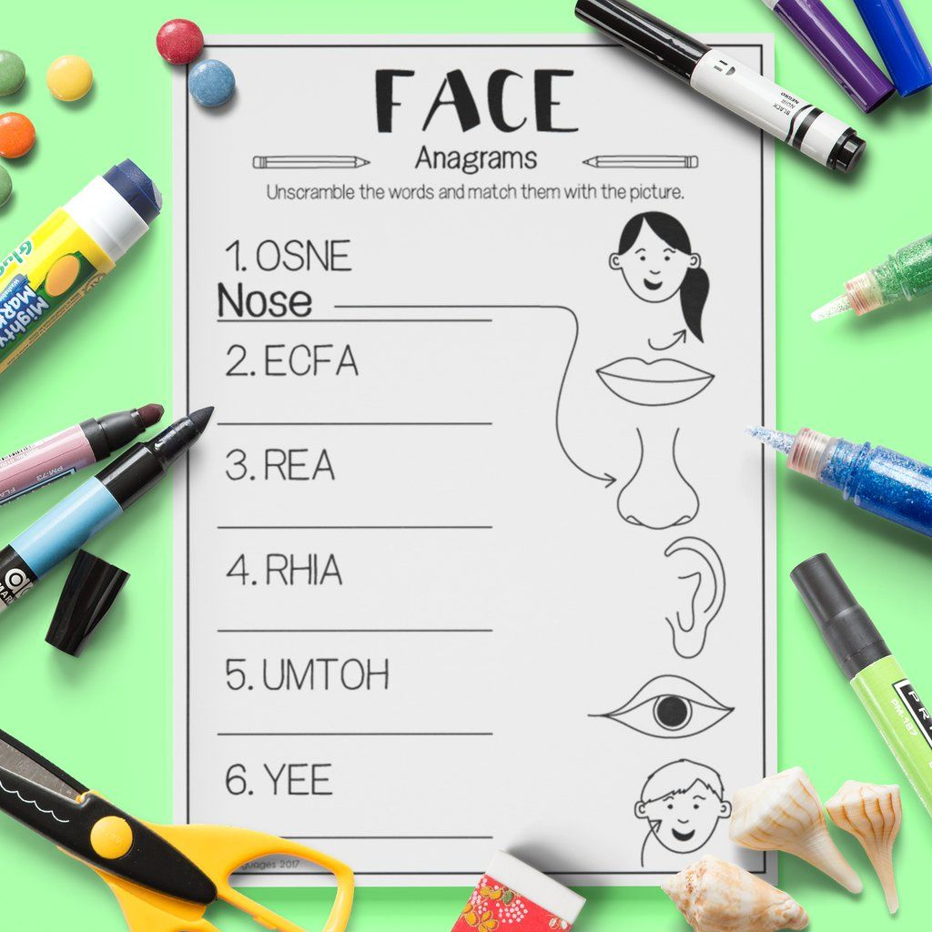 Face Anagrams