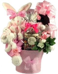 Easter basket girlfriend so sweet gourmet easter basket how cute easter basket girlfriend so sweet gourmet easter basket how cute is this large plush bunny sitting negle Images