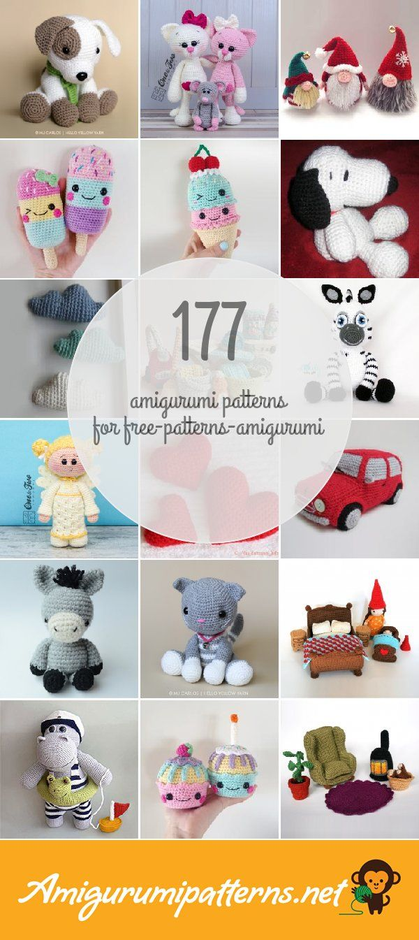 Amigurumi Patterns For Free-patterns-amigurumi | Crochet - Muñecas ...