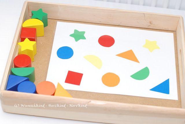formen und farben sortieren lernanregung selbstgemacht farben lernen montessori materials. Black Bedroom Furniture Sets. Home Design Ideas