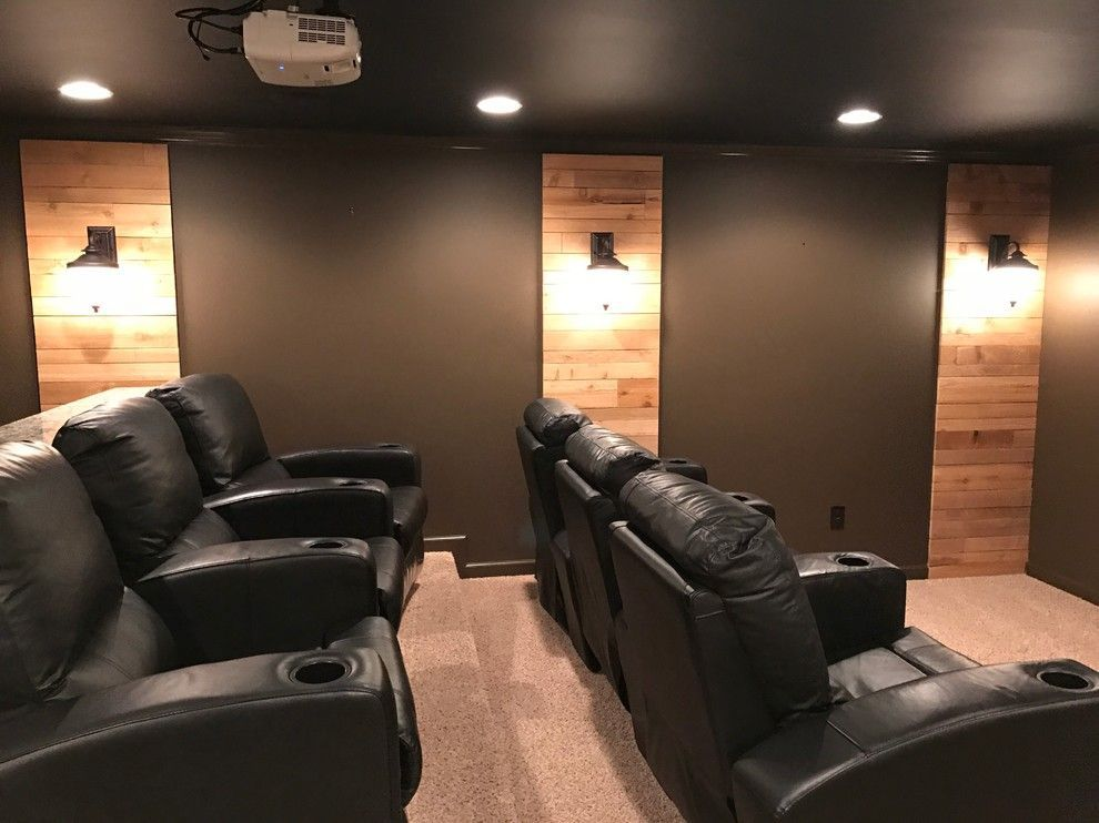 10 cool ideas to create your own home theater theater room rh pinterest com Small Basement Home Theater Attic Home Theater