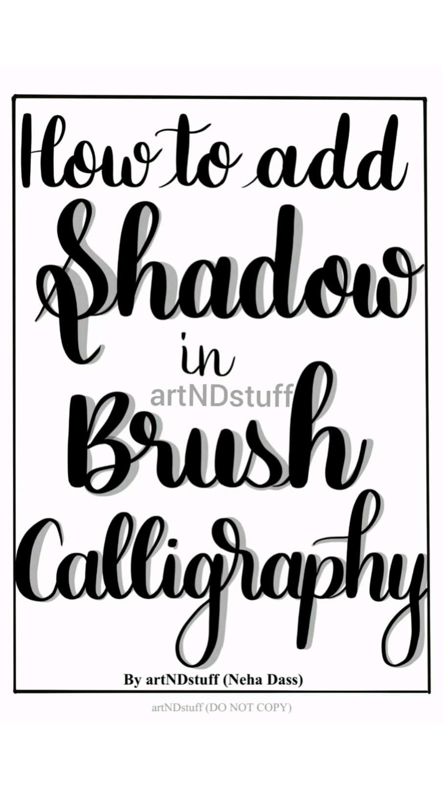 Adding Shadows in Brush Calligraphy PDF Workbook