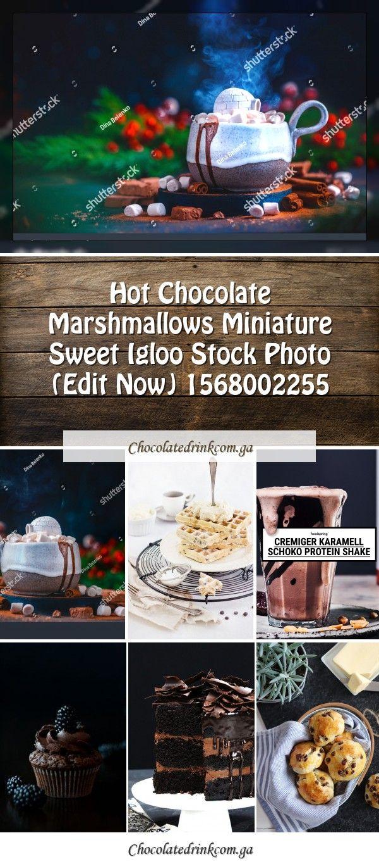 Hot Chocolate Marshmallows Miniature Sweet Igloo Stock Photo (Edit Now) 15680022...