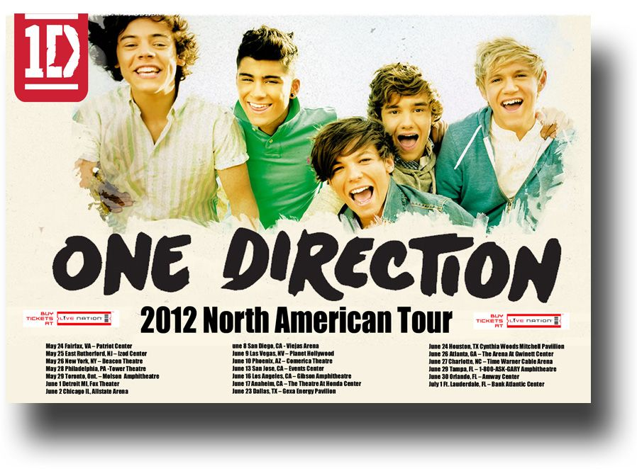 One Direction Poster 2012 Us Concert Tour 1d 9 84 1d Onedirection One Direction Posters One Direction Concert One Direction Tickets