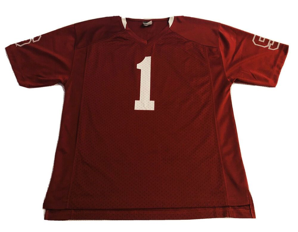 Stanford University Cardinals Football Jersey 1 Size Large 42 44 Home Red Euc Knightsapparel Stanfordcar In 2020 Cardinals Football Stanford Cardinal Ncaa College