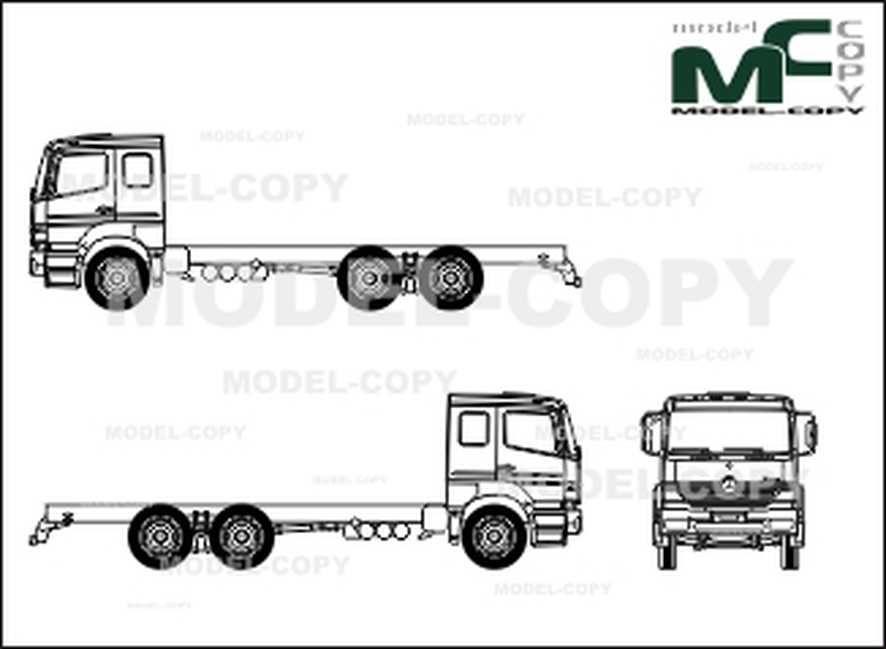 Mercedes-Benz Atego 2628 6x2, L-cab, wheelbase 4200