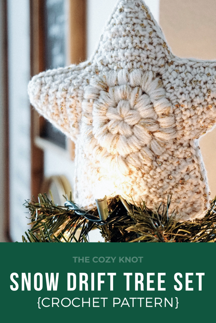 Snow Drift Tree Set Crochet Pattern | The Cozy Knot
