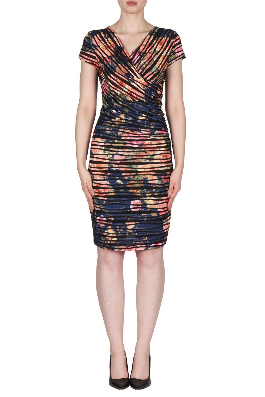 Joseph Ribkoff Blue Multi Dress Style 173668 Dresses