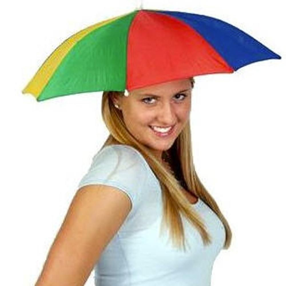 9b05f4ad8ffa6 Outdoor Portable Umbrellas Hat Cap Fishing Camping Beach Umbrella Hats  Multicolor Cap Sun Rain Umbrella Headwear New Arrival