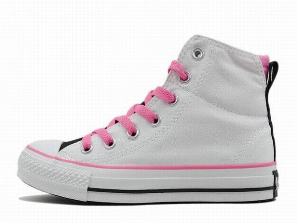 Pink On White High Top