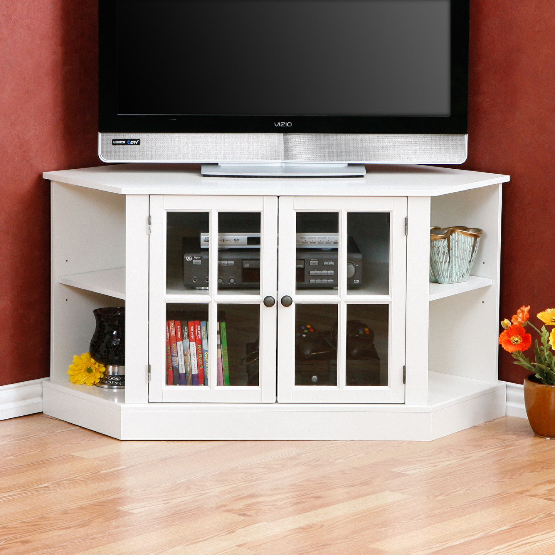 Sculpture Of Tall Corner TV Stand: Designs And Images